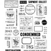 Stampers Anonymous Tim Holtz - Cling Mount Stamp Set - Field Notes - CMS396